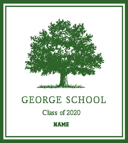 George School Class of 2020 Customized with Name 50 x 60