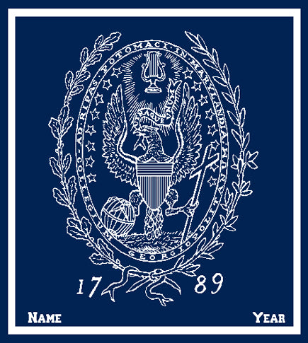 Custom Georgetown  SEAL Navy with Name and Year 50 x 60
