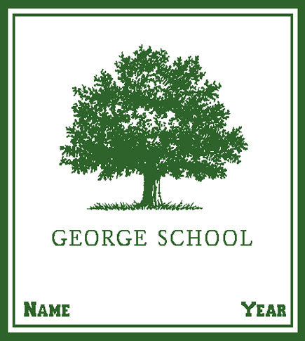 George School Customized with Name and Year  50 x 60