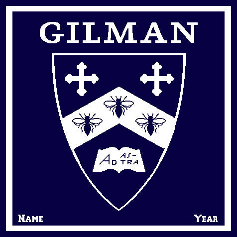 GILMAN Shield Name & Year  50 x 60