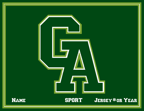 Custom Greenwich Academy  Athletic Logo  Name , Sport & Jersey #