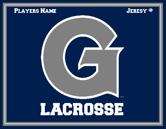 Custom Georgetown Women's Lacrosse with Name & Number 60 x 50