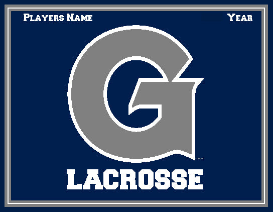 Custom Georgetown Women's Lacrosse Name & Year 60 x 50