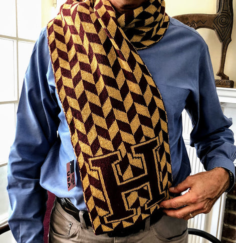 Haverford Chevron H Scarf