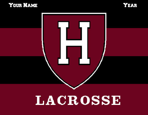 Harvard Women's Striped Lax Name & Year