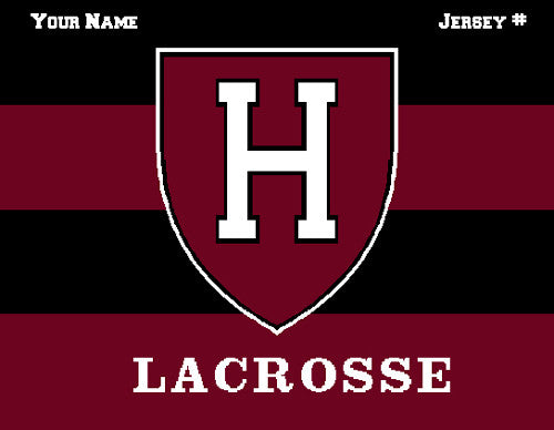 Harvard Women's Striped Lax Name & Number