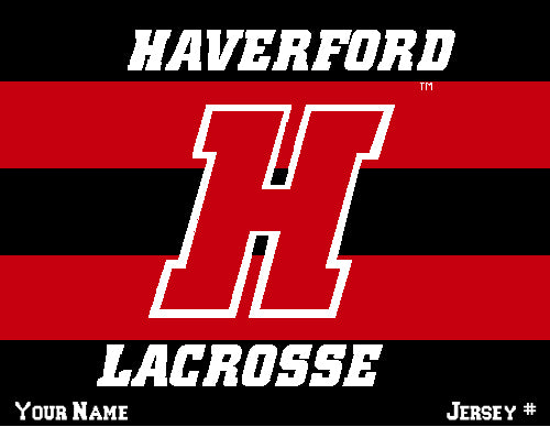 Haverford Men's Striped Lacrosse Name & Number 60 x 50