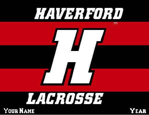 Haverford Men's Striped Lacrosse Name & Year 60 x 50