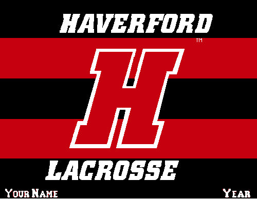 Haverford Men's Striped Lacrosse Name & Number