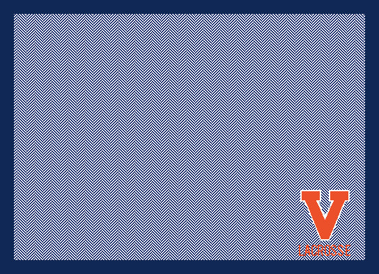 University of Virginia Lacrosse Navy Herringbone 60 x 50