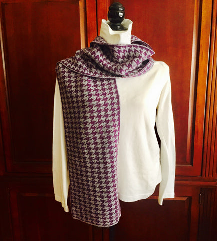 Holy Cross  Colors Houndstooth Scarf 9 x 60
