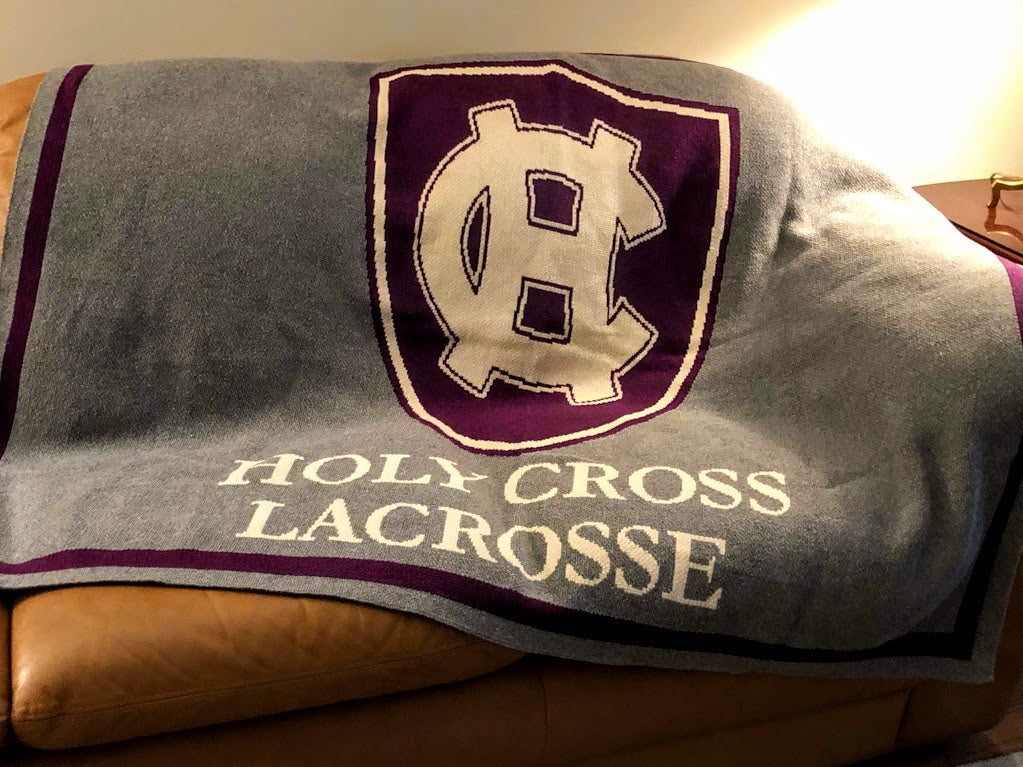 Custom Holy Cross Athletic Solid 60 x 50 (showing Lacrosse)