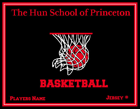 Hun School  Basketball Blanket Customized Name & Number 60 x 50