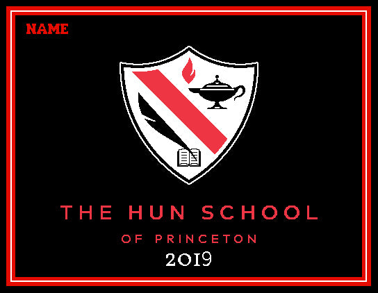 The Hun School of Princeton Blanket  2019 Customized with Name