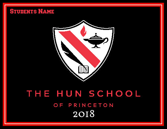 The Hun School of Princeton Blanket  Customized with Name and 2018 60 x 50