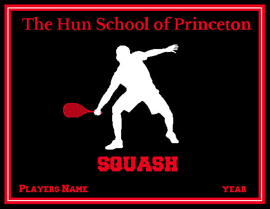 The Hun School Squash Blanket Customized Name & Year 60 x 50
