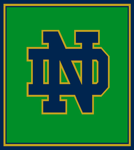 LIMITED Edition Kelly Notre Dame Green Base  ND Blanket 50 x 60 Currently on back order