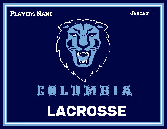 Custom Columbia Lacrosse Name and Number 60 x 50