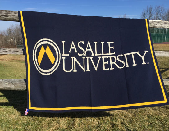 La Salle University  Navy University Logo Dorm, Home, Office, Alumni, Tailgate blanket