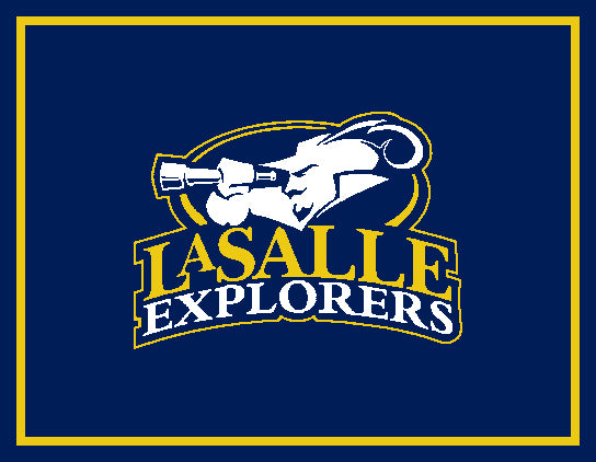 La Salle University  Navy Explorer Logo Dorm, Home, Office, Alumni, Tailgate blanket