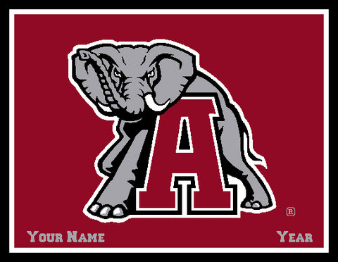 Alabama CUSTOMIZED Big Al Blanket Crimson 60 x 50