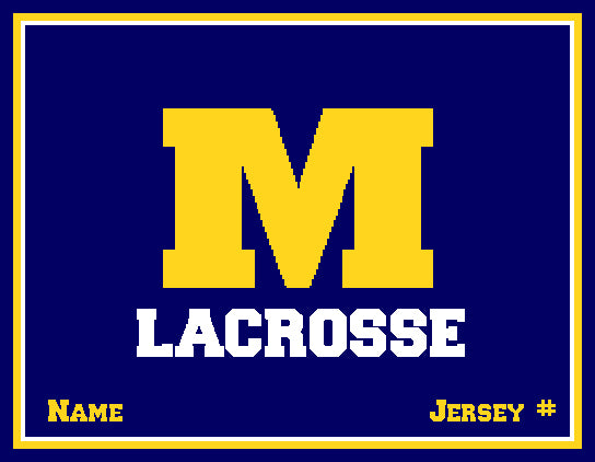 Michigan Lacrosse Customized with your Name & Number