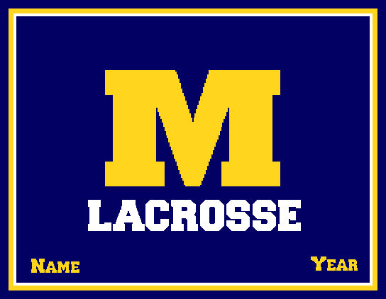 Michigan Lacrosse Customized with your Name & Year