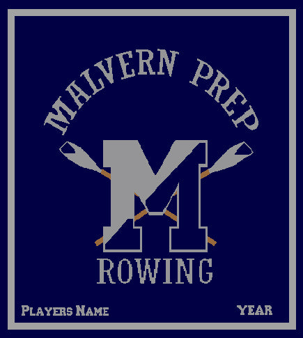 Malvern Rowing Blanket Customized Name & Year 50 x 60