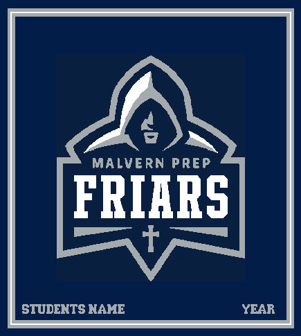 New Malvern FRIAR Customized with Name and Year 50 x 60