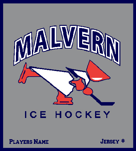 Malvern Ice Hockey Blanket Customized Name & Number 50 x 60