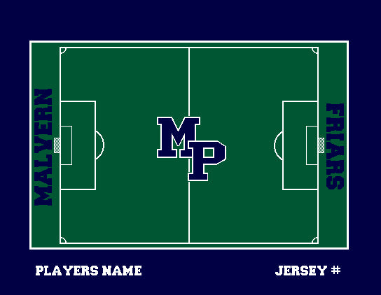 Malvern Soccer Field Blanket Customized Name & Number 60 x 50