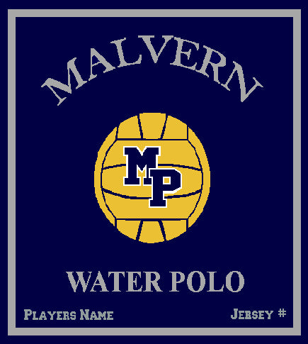Malvern Water Polo Blanket Customized Name & Number 50 x 60