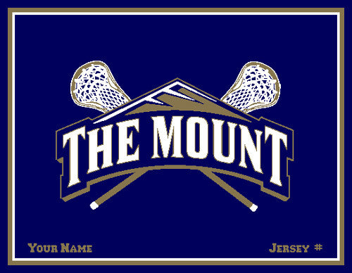 Mount St. Mary's MOUNT LAX Customized with Name & #  60 x 50