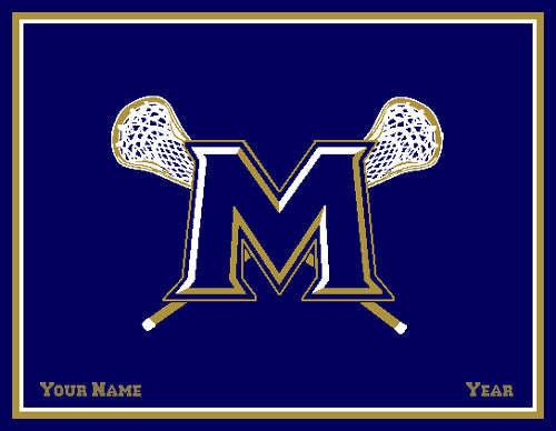 Custom M LAX Name & Year 60 x 50