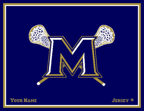 Custom MSM M LAX Name & # 60 x 50