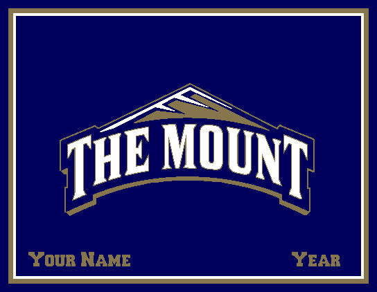 "Mt. St. Mary's  ""The Mount"" Customized with your Name and Year 60 x 50"