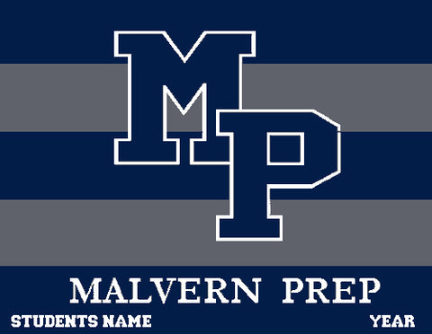 Malvern Rugby Stripe Blanket Customized Name & Year 60 x 50