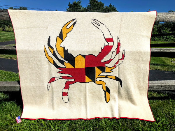 Maryland CRAB Flag Blanket 60 x 50