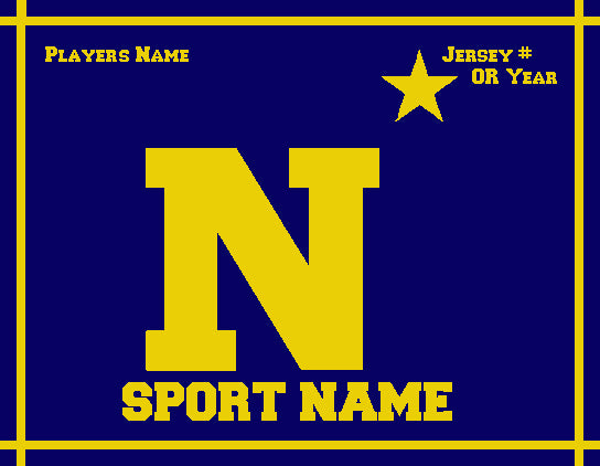 Custom N Star Any SPORT Name and Year 60 x 50