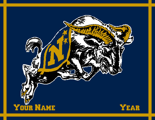 Customized USNA BILLY Navy 60 x 50