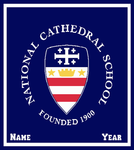 National Cathedral School Seal  Customized with Name and Year 50 x 60