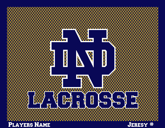 Notre Dame Men's Chevron Lacrosse Name & Number 60 x 50