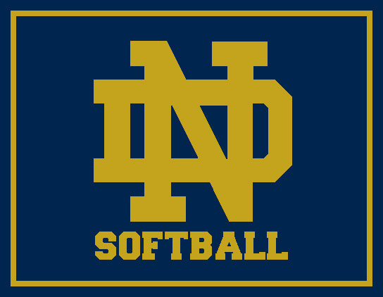 Notre Dame Softball Tailgate, Home or Dorm Room Monogram Blanket