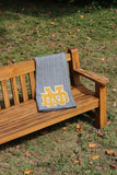 Notre Dame Herringbone Navy & Natural  with Gold Interlocking ND 60 x 50