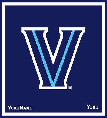 "Villanova ""V""  50"" x 60""   Navy Base with Name & Year"