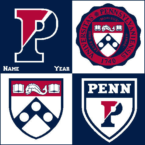 Customized PENN Multi Logo Dorm, Office, Alumni, Tailgate Blanket with Name & Year