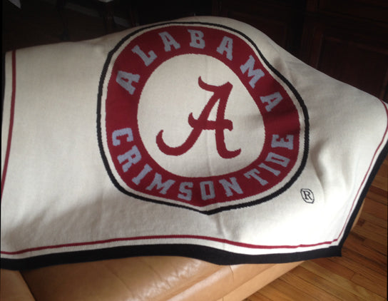 Alabama Seal Blanket Natural 60 x 50