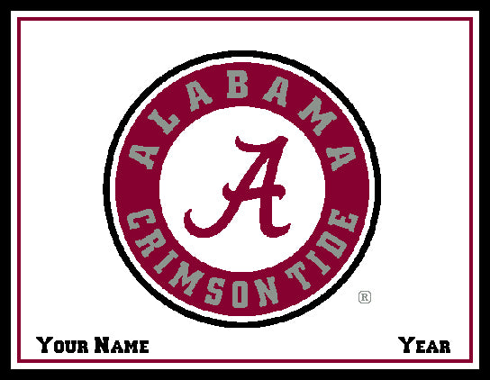 Alabama CUSTOMIZED Seal Blanket Natural 60 x 50