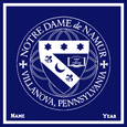 Notre Dame Seal  Customized with Name and Year 50 x 60