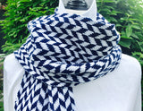 Yale Colors Chevron Scarf 9 x 60